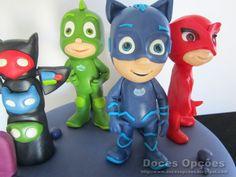Doces Opções: Bolo de aniversário PJ Masks