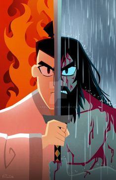 Samurai Jack was my favourite childhood Cartoon Network show and even came out in the year when I was born. So I thought it would be great to share this fanart of someone's work with you guys :) Cartoon Kunst, Cartoon Cartoon, Cartoon Shows, Cartoon Drawings, Cartoon Characters, Samurai Jack Wallpapers, Character Art, Character Design, Cartoon Network Shows