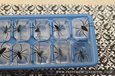 Use plastic or gummy spiders to make ice for a Spiderman party. Could be too freaky for younger kids, though.