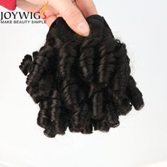 Make you beauty Simple Best Quality Double Weft Full Cuticle Spiral Curl Brazilian Virgin Human Hair Weaving #Cuticle, #Simple
