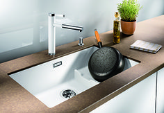 Chiuveta Granit Blanco Subline Antracit 730 x 460 mm Ceramic Kitchen Sinks, Outdoor Oven, Bowl Designs, Undermount Sink, Kitchen Layout, Kitchen Dining, Dining Room, Sweet Home, Bucket Lists