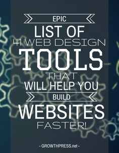 This list of 41 web design tools has been consolidated over years of creating websites, striving to do things faster & more efficient.