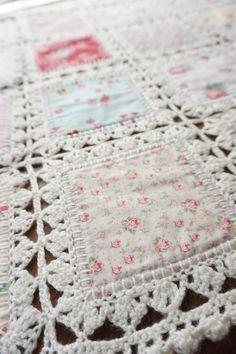 High Tea crochet quilt: http://quiltingintherain.com/2016/03/high-tea-crochet-quilt.html                                                                                                                                                                                 More