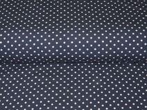 Jersey Mini-Punkte 3mm weiß auf marine blau