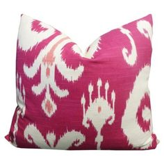 Check out this item at One Kings Lane! Palladium 20x20 Cotton Pillow, Raspberry