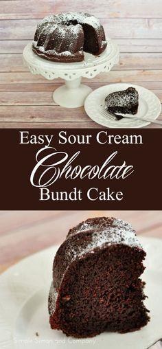 Chocolate Sour Cream Bundt Cake Recipe - Simple Simon and Company