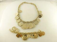 Haiti Jamaica Mexico Guyana Bahamas Dominicana Coin Charm Necklace Bracelet Set #charmbracelet