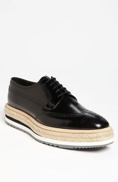 UGH, want these soooo bad. Prada Triple Sole Wingtip available at Nordstrom