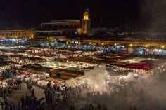 Djemaa el-Fna, das Herz von Marrakesch und Nordafrikas bekanntester Platz