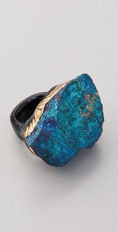 Peacock Pyrite Ring