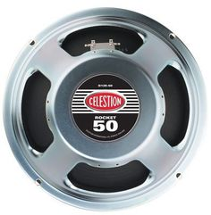 Celestion Rocket 50 Guitar Speaker (12 Inch, 50 Watts, 8 Ohms) by CELESTION. $39.95. The Celestion Rocket 50 Guitar Speaker is a great all around 12 inch replacement for cabinets or combos. Lots of high end harmonics and smooth mid bass with no boomy bottom to clog the rippin' top end. 50 watts, 8 ohms. Look inside the back of a standard 4x12 inch guitar cabinet and you may well find Rocket 50s bolted inside. This speaker sounds fantastic with any playing style... and won't...