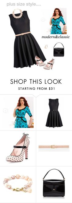 """""""curves have always been in style;)"""" by honeyhottie ❤ liked on Polyvore featuring Voodoo Vixen, WithChic, RED Valentino, Ann Taylor, Marc Jacobs and DIANA BROUSSARD"""