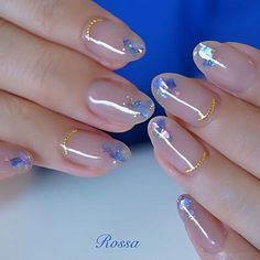 Ideal&Eazy % Beautiful Nails Unique Nails Ideas For The Spring Season Cute Nail Art Designs, Fancy Nails, Love Nails, Bling Nails, Heavenly Nails, Asian Nails, Jolie Nail Art, Korean Nail Art, Korean Nails