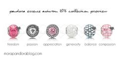 The Pandora Essence Autumn 2016 collection, due out on 1 September, offers six new charms in soft pastel colours and mother of pearl! Pandora Essence Charms, Pandora Essence Collection, Pandora Charms, Pandora Bracelets, Pandora Jewelry, Pandora Catalogue, Mora Pandora, Photo Charms, Bracelet Designs