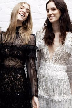 FOR THE BRIDESMAIDS || Lace & embellishment inspired by Rodarte || NOVELA BRIDE...where the modern romantics play & plan the most stylish weddings...www.novelabride.com @novelabride #jointheclique