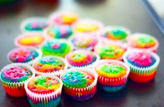 Rainbow Cupcakes Pictures, Photos, and Images for Facebook, Tumblr, Pinterest, and Twitter