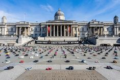 Extinction Rebellion put thousands of kid's shoes in Trafalgar Square urging government to remember children during coronavirus recovery - Extinction Rebellion