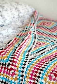 LuluLoves - Giant Crochet Granny Square Blanket