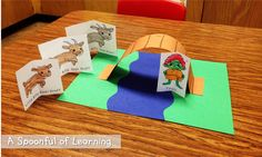 A Spoonful of Learning: Three Billy Goats Gruff, 5 Little Ducks . 3 Year Old Preschool, 3 Year Old Activities, Preschool Learning, Preschool Activities, Kindergarten Reading, Fairy Tale Crafts, Fairy Tale Activities, Billy Goats Gruff, Traditional Tales