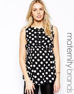 Black and White Polka Dot Maternity Blouse from @ASOS.com