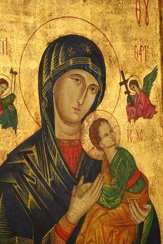 Ikona tradycyjna - Matka Boska Nieustającej Pomocy z kowczegiem