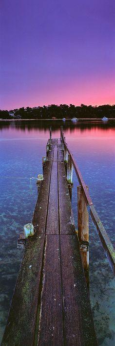 Merimbula Lake Jetty, New South Wales - Australia South Coast Nsw, East Coast, Queensland Australia, Western Australia, Landscape Photos, Continents, Travel Inspiration, Travel Destinations, Places To Go