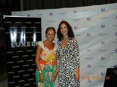 Elisa, CEO de Luxeli con Carla Royo-Villanova. Evento Luxeli Belleza en Hotel Astoria Valencia