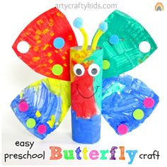 We love simple crafts and our easy preschool butterfly craft is perfect for younger children!