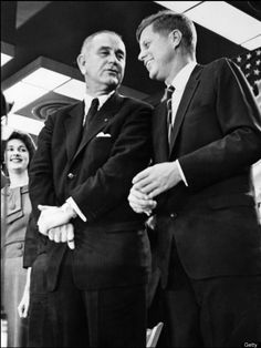 Presidential TicketAn unlocated photo shows U.S. President John F. Kennedy (R) chatting with Vice President Lyndon B. Johnson in the early 1960s. (AFP/AFP/Getty Images)
