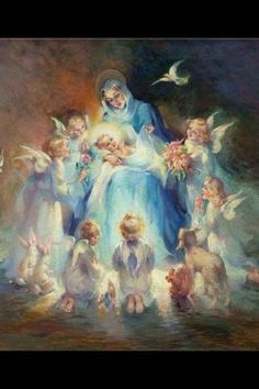 Blessed Mother and Holy Infant Jesus by Red2kay