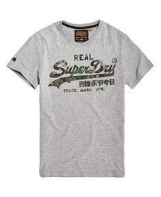 Superdry T-shirt Big23 Pour homme Noir