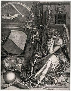 Albrecht Durer, Melancholia, copper engraving 1514