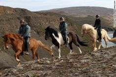 I was glad that I trusted my Icelandic horse on a windy cliff ride in Iceland. Learn about Iceland horse riding, varda (historic road signs) and more. Trail Riding, Horse Riding, Riding Holiday, Gullfoss Waterfall, Icelandic Horse, Iceland Travel, Reykjavik Iceland, Horseback Riding, The World's Greatest