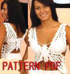 Butterfly top crochet pattern Only written instruction and diagrams