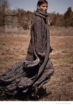 Cover Me: Giedre Dukauskaite Wears Fall Knitwear in Marie Claire UK by James Macari