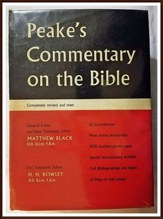 Buy Peake's Commentary on the Bible. Hardcover 1962. View pictures for condition.for R250.00