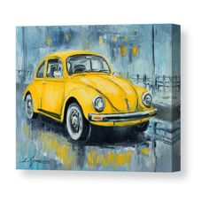 VW Beetle Canvas Print by Luke Karcz. All canvas prints are professionally printed, assembled, and shipped within 3 - 4 business days and delivered ready-to-hang on your wall. Choose from multiple print sizes, border colors, and canvas materials. Volkswagen, Tiger Pictures, Vintage Art Prints, Realistic Paintings, Still Life Art, Vw Beetles, Canvas Art, Canvas Ideas, Stretched Canvas Prints