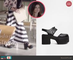 Aria's shoes on Pretty Little Liars.  Outfit Details: http://wornontv.net/46677/ #PLL