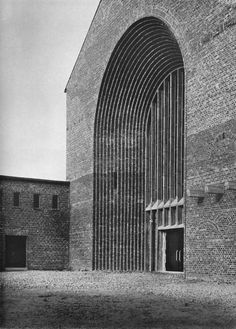 "Church ""Christ König"" (1927-28) in Leverkusen, Germany, by Dominikus Böhm"