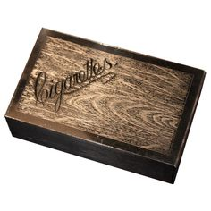 Art Deco Wooden Cigarette Box