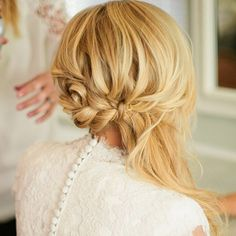 Blonde Messy Braid And Side Ponytail