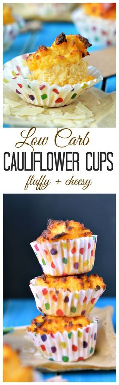 An healthy appetizer for christmas, Low carb + gluten free cauliflower cups, super fluffy and cheesy ! Diabetic Recipes, Gluten Free Recipes, Low Carb Recipes, Real Food Recipes, Snack Recipes, Yummy Food, Snacks, Paleo Food, Healthy Recipes