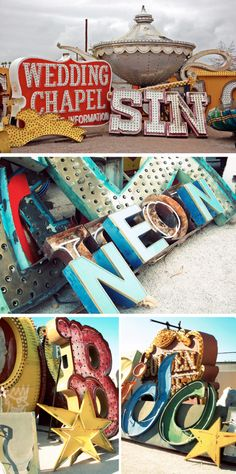 the Neon Boneyard Museum in Las Vegas and see some of the old and quirky Vegas signs from eras gone by.