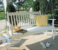 Growing up, my grandparents had two swings on their front porch. We had the best conversations and I would sit out there for hours on end. I will have a swing one day (but I need a porch first!).