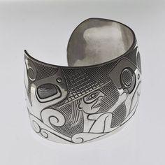 Whale Rider Bracelet by Dean Hunt, Heiltsuk artist Whale Rider, God Bless Us All, Tlingit, Canadian Artists, Native Art, Tribal Art, First Nations, Nova Scotia, Pacific Northwest