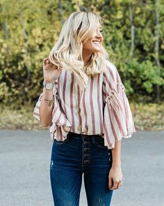 Who else is sad that all the gorgeous fall leaves were gone in like a day!!Also we all loved our Sylvie Top so much we brought it back in rose color!❤️
