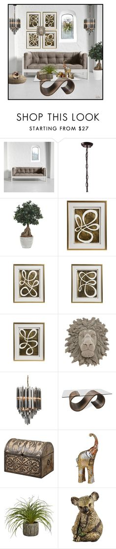 """""""Earth tones . . ."""" by kateo ❤ liked on Polyvore featuring interior, interiors, interior design, home, home decor, interior decorating, Zuo, Lux-Art Silks, Emporium Home and Abigail Ahern"""