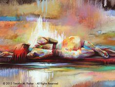 Repose • Abstract Figure Fine Art Print • Limited Edition — Contemporary Fine Art Prints & Modern Wholesale Art