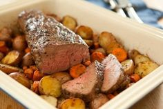 Roasted Beef Tenderloin // This elegant, simple preparation fr beef tenderloin is a CLASSIC! #recipes