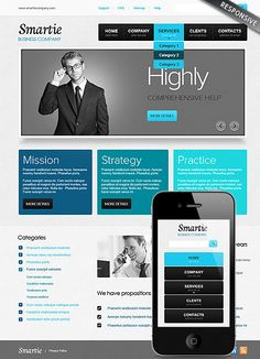 Security service website template web security pinterest smart business website template cheaphphosting Gallery